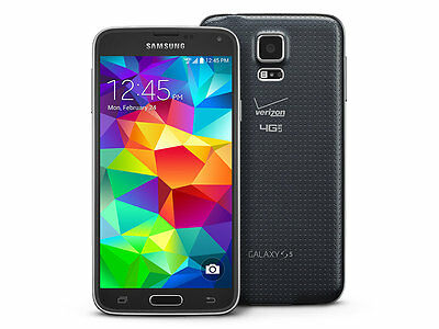 New Verizon Samsung Galaxy S5 SM-G900V Charcoal Black Smartphone