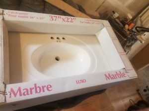 Marble 37 x 22 vanity top