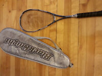 Squash Black Knight Racket with cover. PERFECT - NICKEL