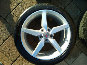 "Corvette staggered set - 19''/18"" rims/tires - $1800.00 Kitchener / Waterloo Kitchener Area image 5"