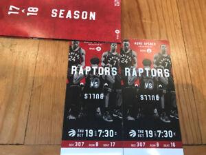 Selling Raptors VS Bulls Thu Oct 19th Home Opener
