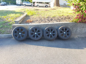 Selling Matte Black BMW Rims w/ Summer Tires
