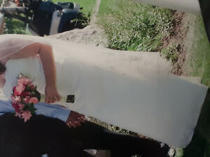 Beautiful & simple Ivory dress and veil