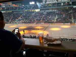 Oilers vs. Coyotes. Club Seats, Drink Rail. Over 50% off!!!