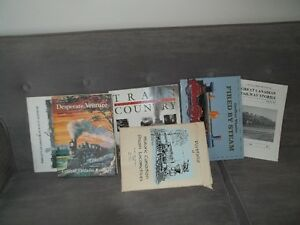 Several train books and prints suitable for framing Belleville Belleville Area image 1