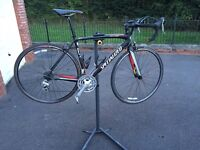 Specialized racing bike with stand