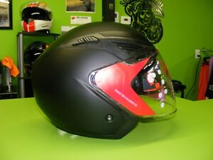 3/4 Helmet with Sunvisor - Matte Black - XS to XL at RE-GEAR Kingston Kingston Area image 3