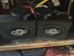 CAR audio CD player/subs/speakers