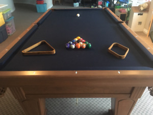 "9' x 4.5'  Pool Table for Sale - Mint condition 1""slate"