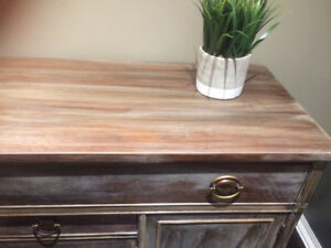 Console table-restoration hardware inspired