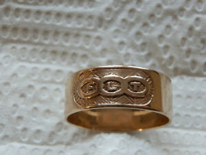 10K Gold FLT Lodge Ring