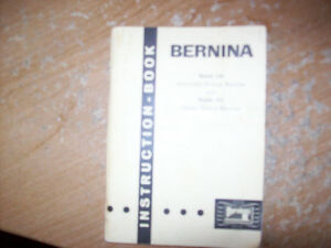 Bernina Instruction manual for 530 or 532 sewing machine
