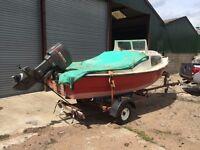 15df Shetland fishing boat