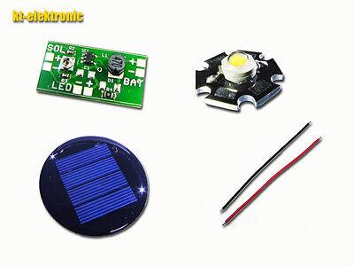 1x Solar Laderegler/Booster Umrüstsatz für 1,2V Akku LED Solarleuchten weiß