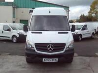 Mercedes-Benz Sprinter 313cdi mwb High Roof 130ps DIESEL MANUAL WHITE (2015)