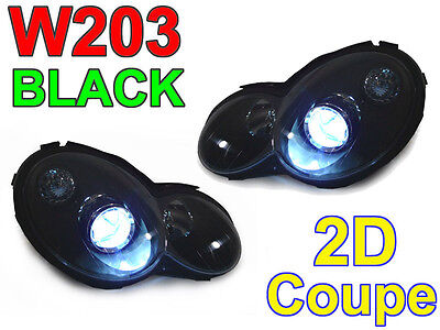 AMG Black Projector Xenon HID Headlight For 2002-2005 Mercedes W203 2 Door Coupe