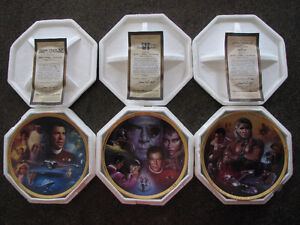 STAR TREK THE MOVIES Collection Plates - Set of 3
