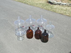 Carboys Plastic and Glass Bottles - Wine/Beer making