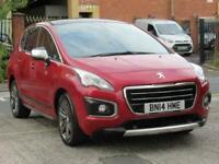 2014 Peugeot 3008 1.6 ALLURE 5DR Hatchback Petrol Manual