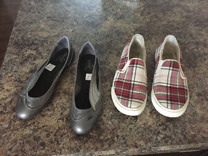 BRAND NEW PUMA AND BARELY WORN ROXY SHOES