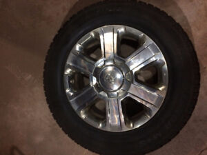 Toyota Tundra factory wheels and winter tires