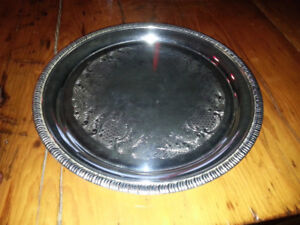 STERLING SILVER-PLATE SERVING TRAYS