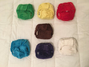 Adorable cloth diapers