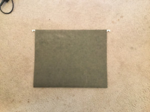 Hanging File Folders - Letter Size Qty. 100+  (used) $15
