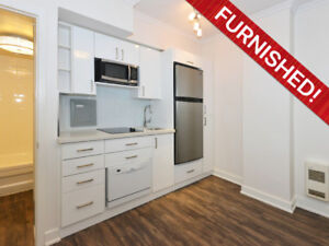 New FURNISHED Micro-Smart Bachelor Suite W/ 5 Apls - From $1597!