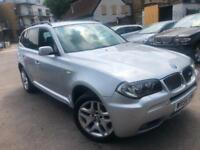 BMW X3 3.0sd DIESEL AUTOMATIC 2007 M SPORT FULL LEATHER NEW MOT