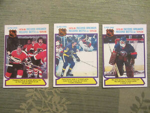 164 different 1980-81 OPC hockey cards in nice condition