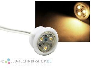 LED Spot Strahler Einbaustrahler wasserdicht IP66 12V ultrahell warmweiss