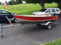12' Springbok boat, motor and trailer