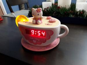 Hello Kitty Clock/Alarm/Radio/Night Light