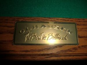 Olhausen pool table and light