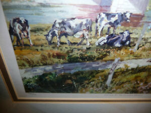 """Peter Etril Snyder """"Cattle By The Covered Bridge"""" Signed/Numbere Stratford Kitchener Area image 4"""