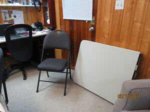 folding 6ft table - 4 chairs