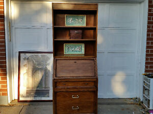 RARE VINTAGE Sklar-Peppler 7ft SECRETARY DESK CABINET I DELIVER