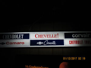Chevrolet LIGHTED Sign.
