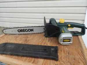 14 INCH ELECTRIC CHAIN  SAW & wood splitter