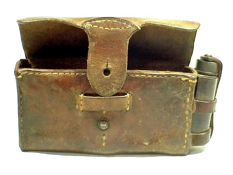 Original W.W. 2 IMPERIAL JAPANESE Type 38 Rear AMMO POUCH With OIL BOTTLE