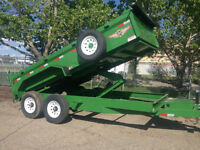 NEW Industrial Grade Dump Trailers by H&H - ONLY $ 9,995.00