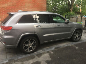 Jeep Grand cherokee overland 2019 gris silver