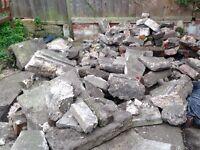 Free concrete block pieces