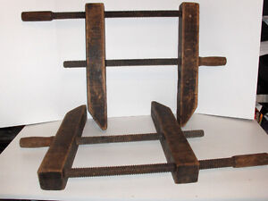 Antique wood clamps