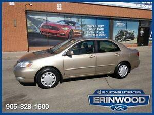 2005 Toyota Corolla LEROOF / LTHR /  ALLOYS / LOW KM'S !!!!