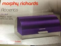 Purple morphy Richards bread bin