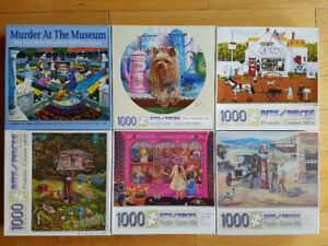 Puzzles Lot 6 x 1000 pieces