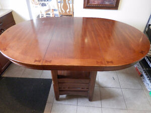High Round/Oval Table w/ Two Chairs