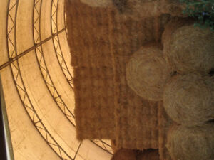 Square and round hay bales